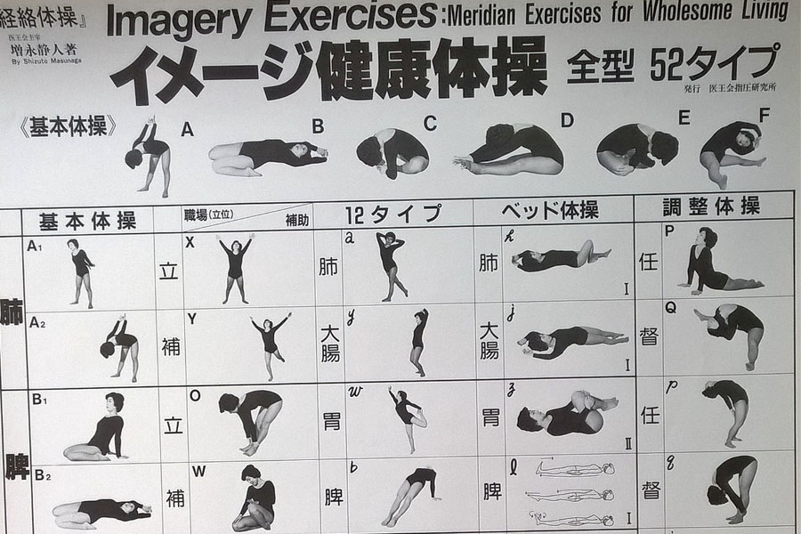 P01 : Affiche Zen Shiatsu by Masunaga  - Le poster officiel des Exercices Zen Shiatsu