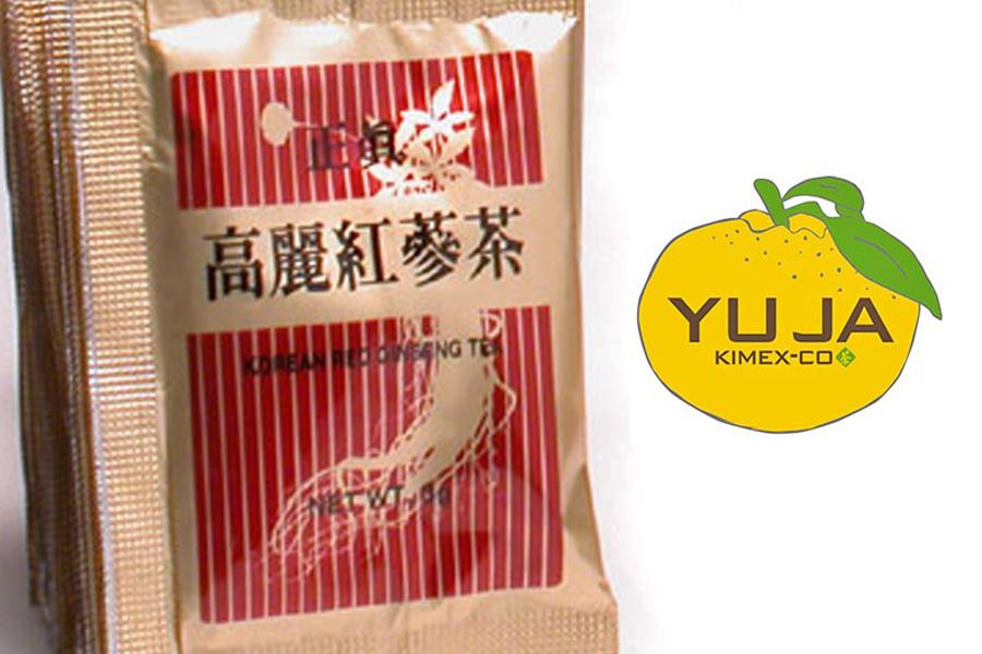 P02 : Thé Ginseng Rouge - Boite avec extraits granulés de ginseng rouge Coréen
