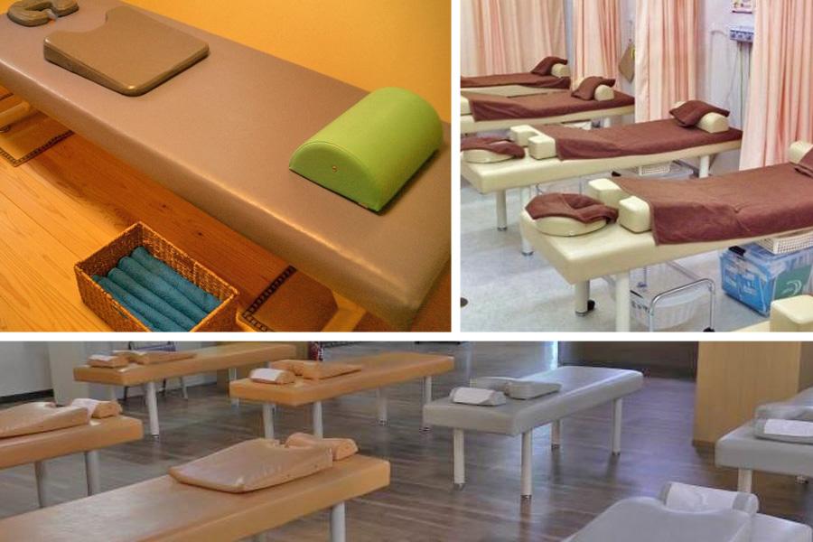 La pratique du shiatsu sur table - © Tables soin dans centres shiatsu japonais