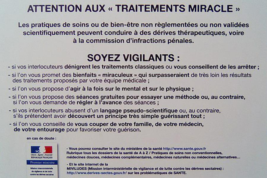 Le vocabulaire proscrit en France - © Ministère de la Santé - Miviludes