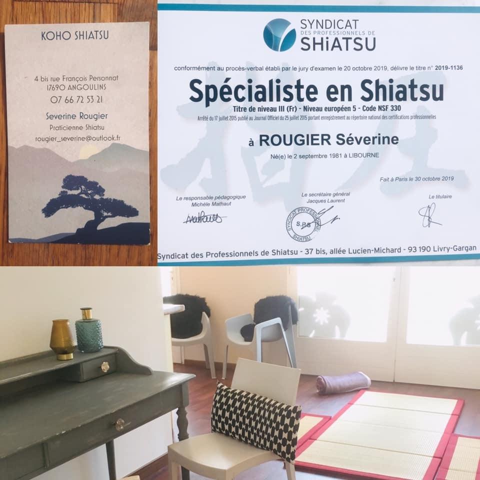 Séverine Rougier Spécialiste Shiatsu : infos, localisation, contacts... pour ce centre de shiatsu