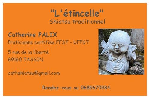 Shiatsu l'étincelle - Catherine Palix : infos, localisation, contacts... pour ce centre de shiatsu