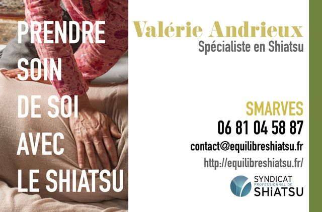 Valérie Andrieux - Spécialiste en Shiatsu : infos, localisation, contacts... pour ce centre de shiatsu