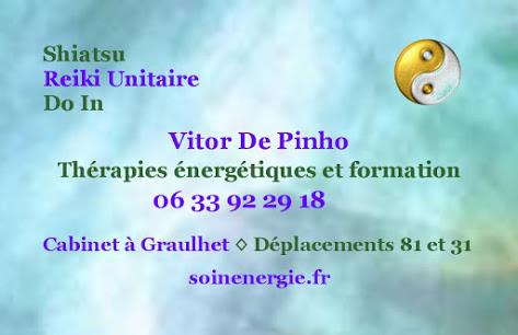 Vitor de Pinho - Thérapeute énergétique Reiki et Shiatsu : infos, localisation, contacts... pour ce centre de shiatsu
